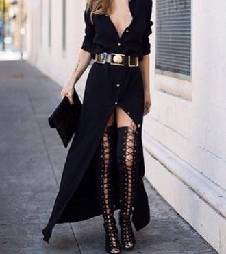 dress sexy black dress