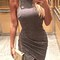 Women's casual elegant sleeveless knitted party bodycon dress