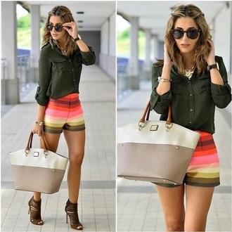 shorts mini shorts multicolor