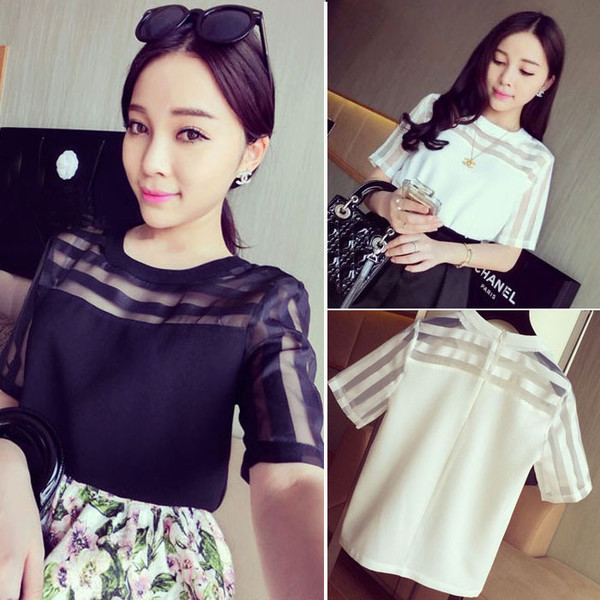 top black or white transparent top