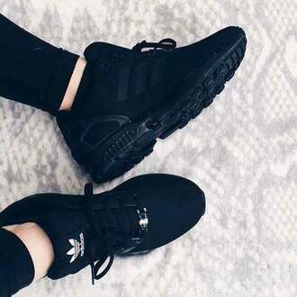 shoes black adidas adidas zx flux sneakers