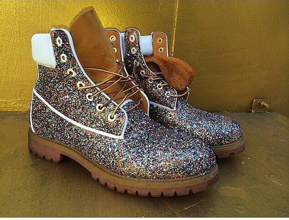 glitter boots glitter timberlands glitter shoes