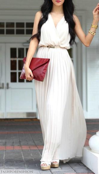 long dress white dress