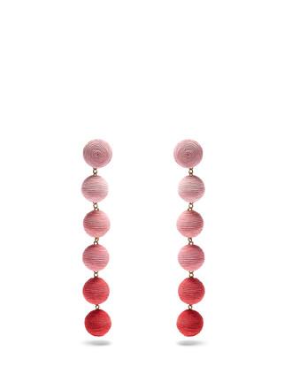earrings silk pink jewels