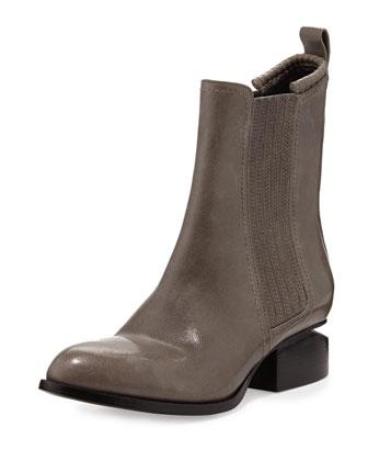 Alexander Wang Anouck Lift-Heel Chelsea Boot, Black - Bergdorf Goodman