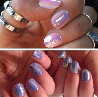 nail polish iridescent holographic nails nailpolish girly cute dope korean iridescence nail polish nail art