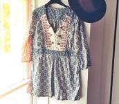 top,gypsy top,vintage top,vintage t-shirt,indie top,hippie top,hipster top,long sleeved top,vintage long sleeved top