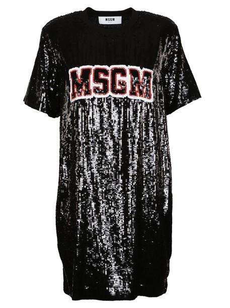 MSGM dress embellished dress embellished sequins