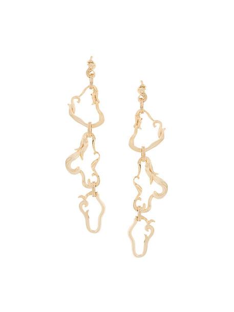 VERSACE metal women earrings grey metallic jewels