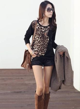 blouse leopard sweater leopard print streetstyle