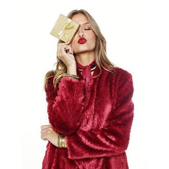 coat red rouge redat co fluffy fur coat faux fur furry coat gilet revovle revovleme bardot fuzzy coat burgundy bordeau manteau blouson fall colors fall outfits fall coat winter coat trendy winter outfits revolve clothing josephine skriver all red wishlist