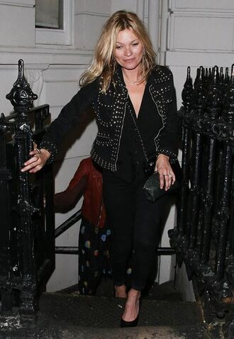 pants jacket kate moss pumps