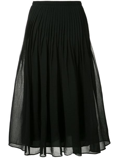 Fabiana Filippi skirt pleated skirt pleated women cotton black silk