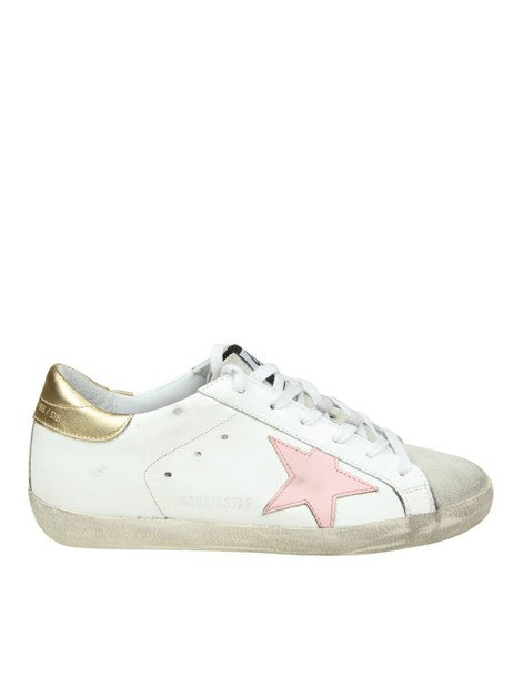Golden goose sneakers. sneakers leather white pink shoes