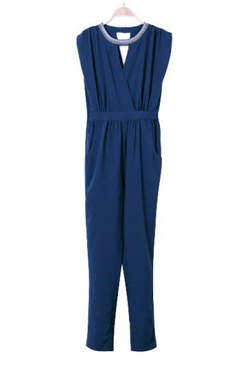 New Beaded Design Casual Jumpsuit [FJCF0042] - PersunMall.com