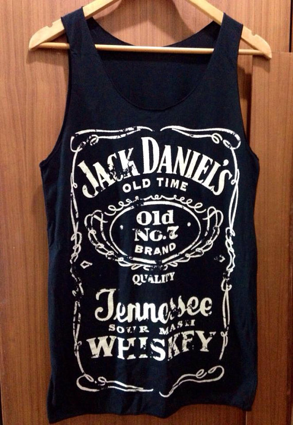 Jack daniels womens tank top old no. 7 classic logo by petathai