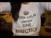 sweater,one direction,sweatshirt,keep calm,lovely,cute