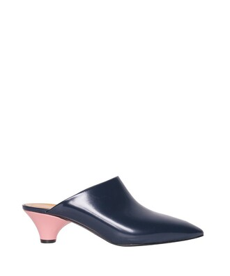 mules leather shoes