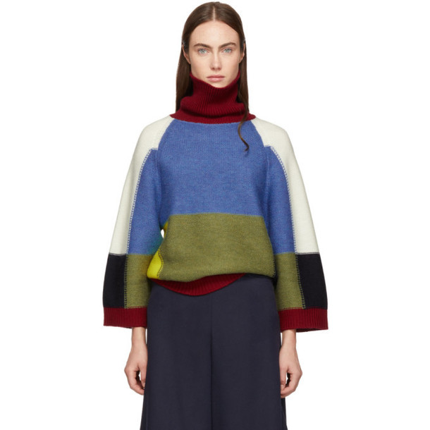 See by Chloé See by Chloé Multicolor Patchwork Turtleneck