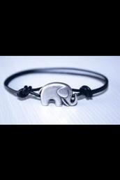 jewels,elephant,elephant bracelet,silver,black and silver