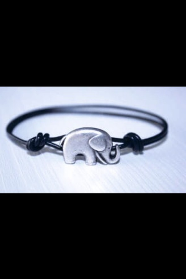 jewels elephant elephant bracelet silver black and silver elephant