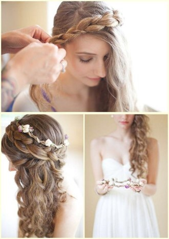 hair accessory prom hairstyles flower crown hipster wedding prom beauty