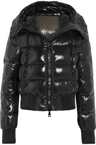 jacket down jacket cropped shell quilted black