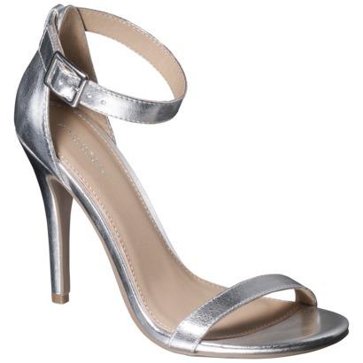 e0e4678458a Women s Xhilaration® Susy Strappy Heel - Silver   Target