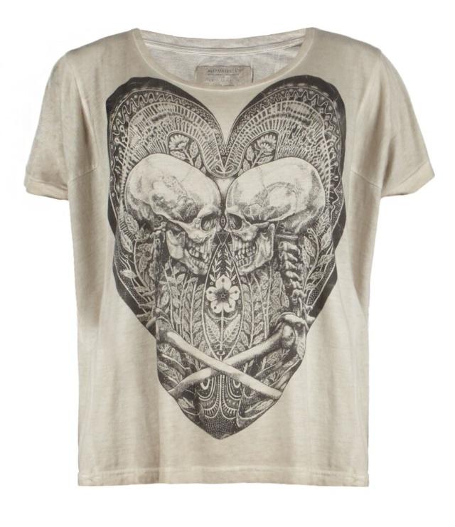 shirt heart white skull science
