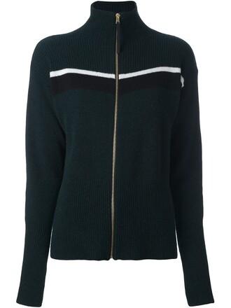 cardigan green sweater