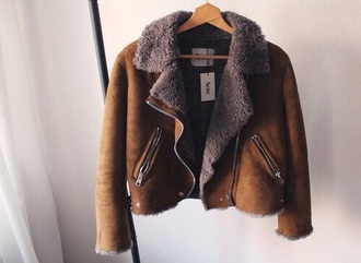jacket brown leather jacket acne studios