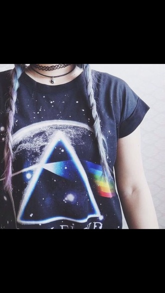 blouse awesome shirt pink floyd rainbow shirt pink floyd shirt