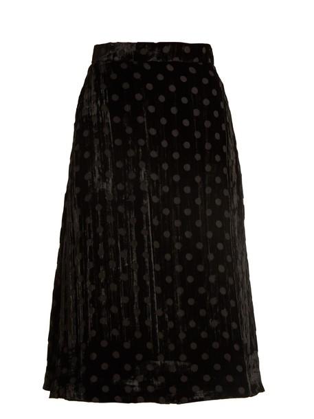 skirt velvet skirt velvet black