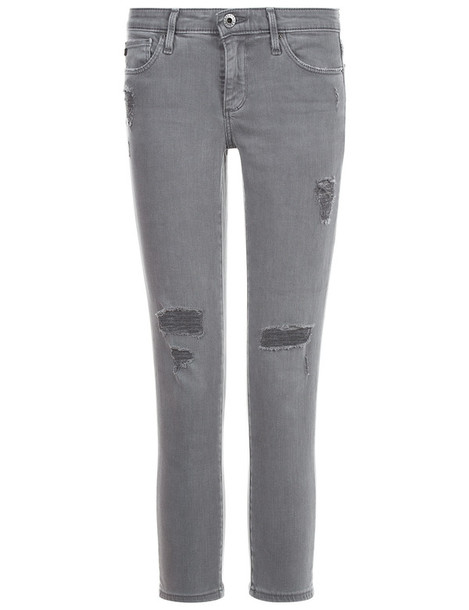 ag jeans jeans skinny jeans cropped grey