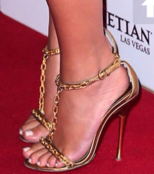 shoes tom ford gold strap chain