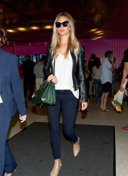 rosie huntington-whiteley shoes jeans sunglasses bag
