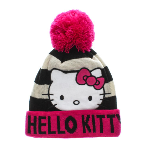 Hello Kitty Beanie Hat, Brands, Characters, Hello Kitty, Kids , Christmas, Hats & Scarves, Hats, Winter Woolies, Winter Woolies, all, Accessories, Accessories, Kids, Accessories, Hats & Scarves, Gifts for Kids, Inspire Me... Fashion trends, accessories and jewellery for young women