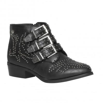Boots noires à clous