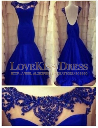 Aliexpress.com : Buy Abendkleider 2015 Royal Blue Memraid Vestido De Formature Longo Beading Neckline Cap Sleeve Backless Prom Dresses Abendkleider from Reliable dress types for body types suppliers on Love Kiss Evening Dress and Wedding Dress Manufactory | Alibaba Group