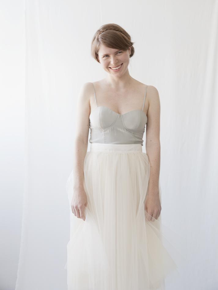 Gretta Tulle Skirt - Ivory - 30