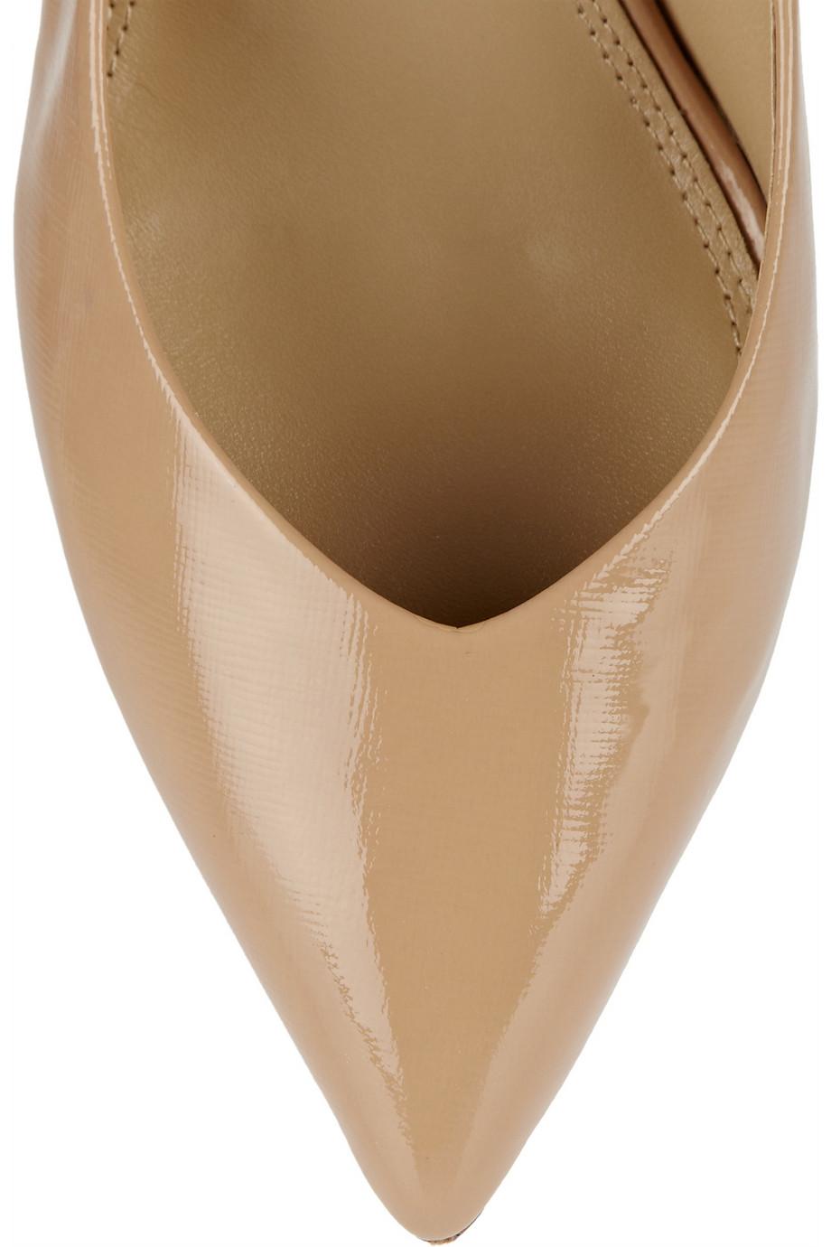 Diane von Furstenberg Park patent-leather wedge pumps – 50% at THE OUTNET.COM