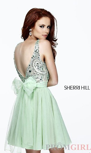 Sleeveless Party Dresses, Sherri Hill Homecoming Dress- PromGirl