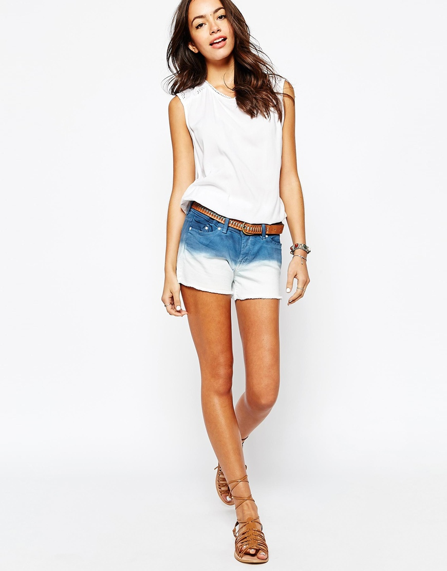 Esprit Denim Ombre Shorts at asos.com