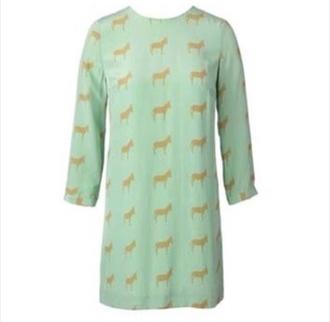 dress long sleeve dress donkey mint shift dress