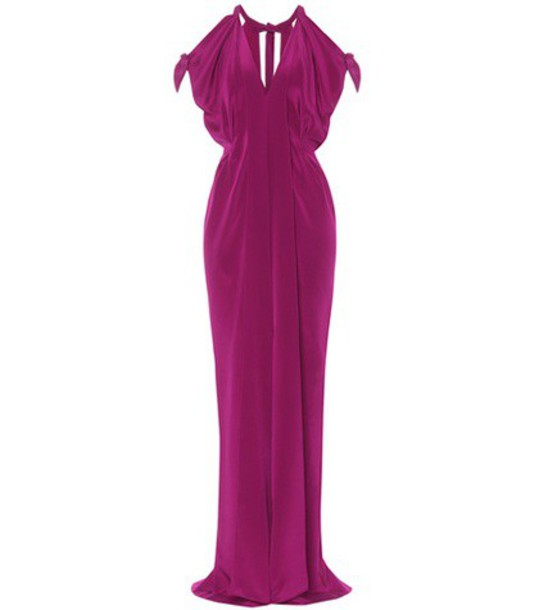 Roland Mouret gown silk satin purple dress