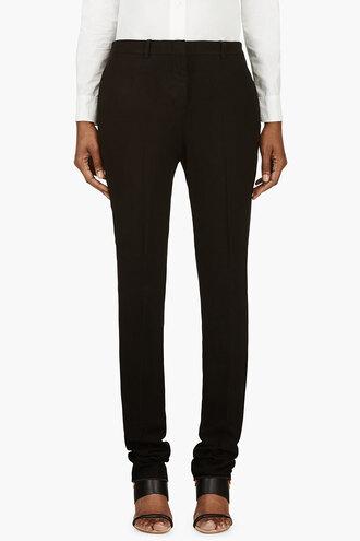 flat black women classic clothes linen pants harem pants
