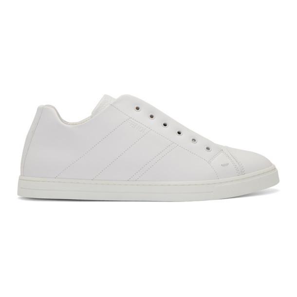 Fendi White 'Forever Fendi' Reloaded Sneakers