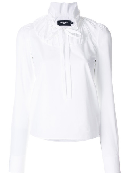 Dsquared2 blouse women white cotton top