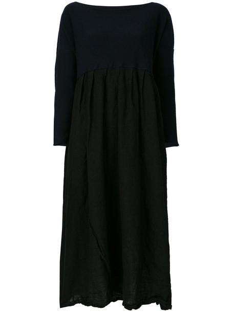 dress sweater dress women midi black wool