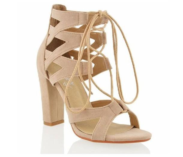 8b359bbabe4 shoes nude heels nude lace up heels mid heel sandals